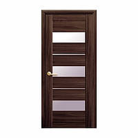 Межкомнатная дверь Новый стиль Лилу 600мм орех со стеклом