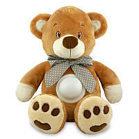 Детский ночник проектор музыкальный Медведь 25 см. Baby Mix STK-13138, коричневый