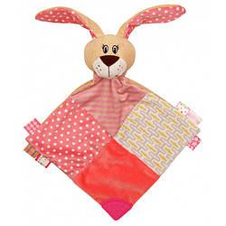 Детская мягкая игрушка комфортер c грызунком Baby Mix STK-17525 R Кролик, розовая
