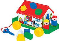 """Развивающая детская игрушка-сортер Polesie """"Игровой дом"""" в сеточке"""