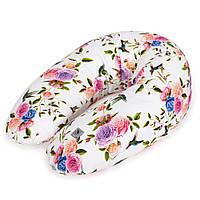 U образная подушка для беременных Ceba Baby Physio Multi Flora & Fauna Flores, 190x35 см.
