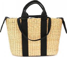 Черная плетенная сумка George в виде корзины (123981)