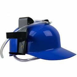 Шлем-каска для пива и напитков, алкошлем (Пивной шлем ) 300 г, Синий (122314). Необычный подарок мужчине парню