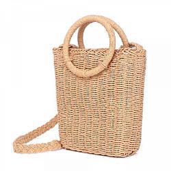 Женская плетеная сумка Sensi в виде корзины (123982)