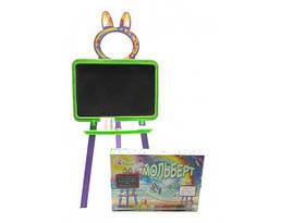 Доска двухсторонняя магнитная для рисования 130 см Doloni Toys, зеленый