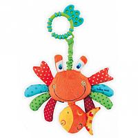 Детская игрушка-погремушка с грызунками и вибрацией Baby mix Краб (4679)