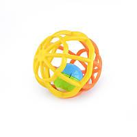 Детская погремушка Baby Mix GW-G106 Мягкий шар, желтый