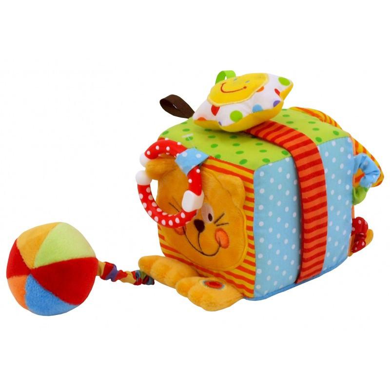 """Плюшевый кубик для самых маленьких Baby Mix TE-8561-10C """"Кот"""""""