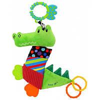 Мягкая игрушка подвеска для самых маленьких Baby Mix Крокодил TE-8567-33, зеленый