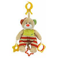 Детская плюшевая музыкальная подвеска Мишка на кроватку, коляску Baby Mix STK-16132, 25 см. (8011)
