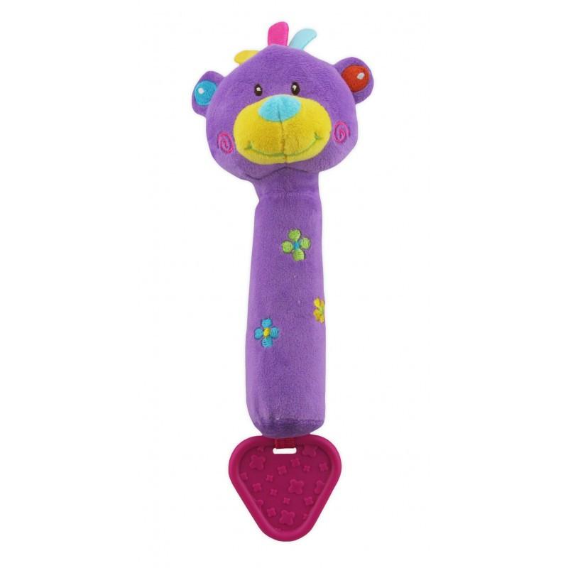 Детская плюшевая игрушка-пищалка для руки Мишка Baby Mix STK-12600B (6771)