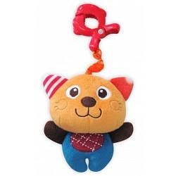 Детская плюшевая игрушка для кроватки  Baby mix P/1144-EU00 Кот с клипсой (5814)