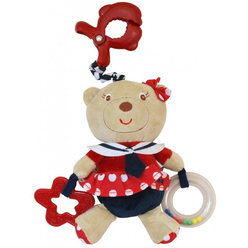 Детская плюшевая подвеска с вибро на коляску, автокресло Baby Mix E/2553-3700 Морячка (7322)