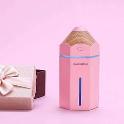 Мини увлажнитель воздуха Pencil humidifier Pink (123683)