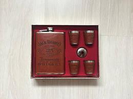 Подарочный набор фляга со стопками Jack Daniels, brown (122386)