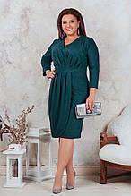 Платье женское   нарядное батал. Цвета : бутылка , марсала , морская волна , электрик ! Размер 50,52,54,56!