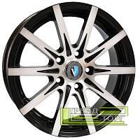 Литой Диск Tech Line TL1508 5.5x15 4x100 ET45 DIA60.1 Black Diamond (Черный глянцевый)