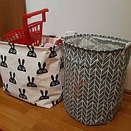 Корзина для игрушек и белья 40х50 см Love you серый принт, фото 3