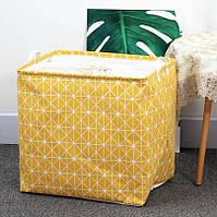 Корзина для игрушек и белья большая 50х48 см Желтый принт