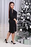 Платье женское   нарядное батал. Цвета : бутылка, чёрное ! Размер 48,50,52,54,56,58,56!, фото 2