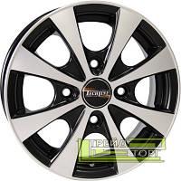 Литой Диск Tech Line TL311 4.5x13 4x114.3 ET43 DIA69.1 Black Diamond (Черный глянцевый)