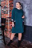Платье женское   нарядное батал. Цвета : бутылка, синее, чёрное ! Размер 52,54,56,58,56!, фото 6