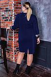 Платье женское   нарядное батал. Цвета : бутылка, синее, чёрное ! Размер 52,54,56,58,56!, фото 3