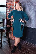 Платье женское   нарядное батал. Цвета : бутылка, синее, чёрное ! Размер 52,54,56,58,56!