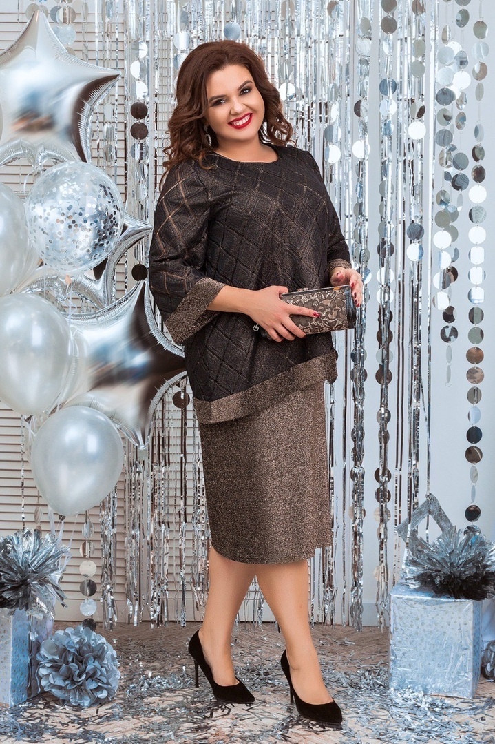 Платье женское   нарядное батал. Цвета :синее, чёрное, коричневое !Размер 54,56,58,60!