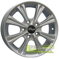 Литий Диск Tech Line TL526 5.5x15 4x100 ET45 DIA60.1 Silver (Срібло)
