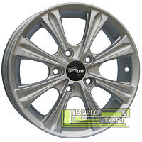 Литой Диск Tech Line TL526 5.5x15 4x100 ET45 DIA60.1 Silver (Серебро)