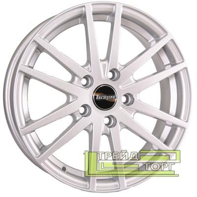 Литий Диск Tech Line TL535 6x15 5x100 ET45 DIA57.1 Silver (Срібло)