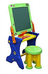 """Детская парта мольберт и стульчик для рисования """"Играй и учись"""" Polesie (Полесье). Подарок ребенку от 3 лет"""