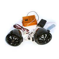 Аудиосистема на скутер с сигнализацией FR чёрная (плеер,FMрадио,колонки), фото 1
