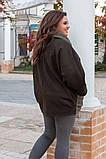 Кардиган женский кашемировый . Цвета: марсала, хаки, Размер 52,54,56,58!, фото 3