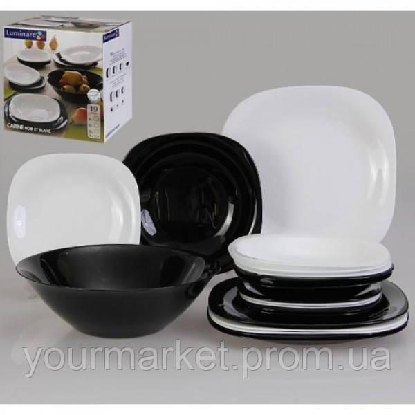 Купить Сервиз столовый Luminarc Carine Black&White 19 предметов N1491/d2381