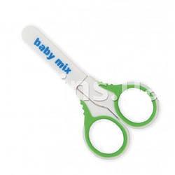 Ножницы для младенцев с колпачком Baby Mix RA-BD60007, зеленый