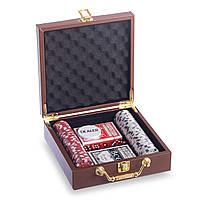 Набор для покера в чемодане на 100 фишек PK100L