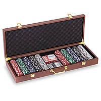 Набор для покера в чемодане на 500 фишек PK500L