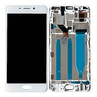 Дисплей для Meizu M6 Note M721H Оригинал Белый с сенсором и рамкой