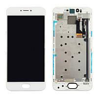 Дисплей для Meizu Pro 6 M570H, Pro 6s Оригинал Белый с сенсором и рамкой