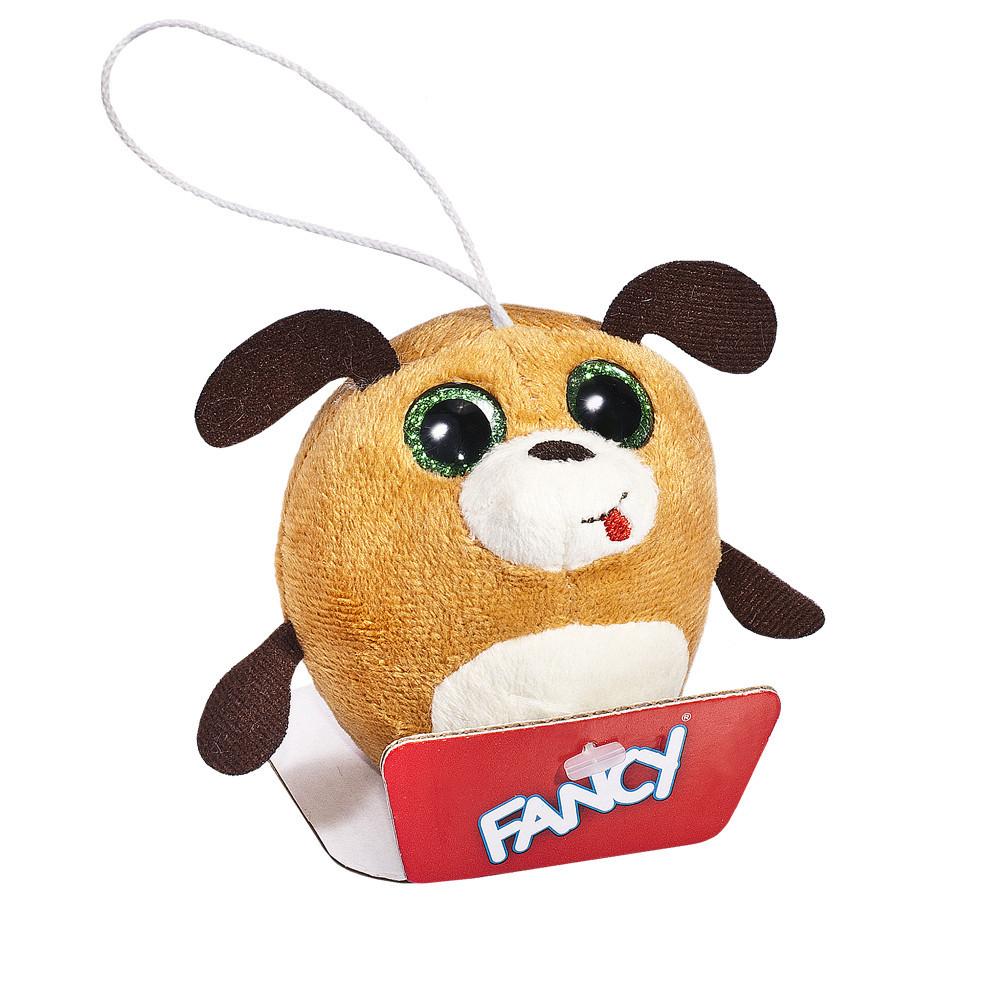 Антиаллергенная мягкая игрушка-брелок детская Глазастик собачка Fancy, 8 см