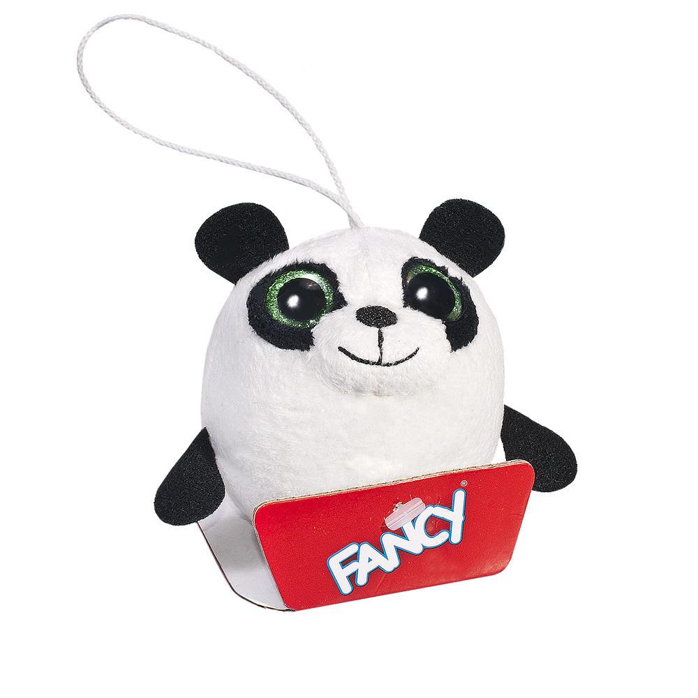 Мягкая детская плюшевая игрушка-брелок гипоаллергенная Глазастик Панда Fancy, 8 см