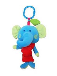 Детская игрушка-подвеска для коляски музыкальный Слоник Alexis-Baby Mix YF 1006 E (3786)