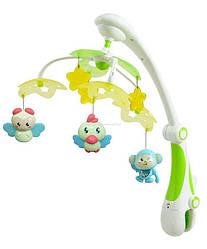 Детский музыкальный мобиль игрушка для кроваткиBaby MixRC-822-206 (8658) Подарок на выписку из роддома