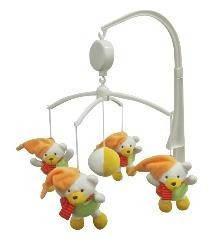 Мобыль детский пластиковый самозаводной с игрушками для кроватки Baby mix TK/416M, Мишка зимой (6321)