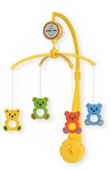 Детская музыкальная карусель механическая для кроватки Мишки Alexis Baby Mix, 36х9,5х51,5 см.(SK/20034В)