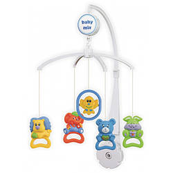 Детский музыкальный мобыль игрушка механическая для кроватки, Зверюшки Baby Mix ,36х9,5х51,5 см.(SK/98001)