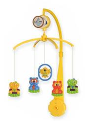 Детский музыкальный мобыль игрушка механическая для кроватки, ЗверюшкиBaby Mix 36х9,5х51,5 см. (SK/21300)