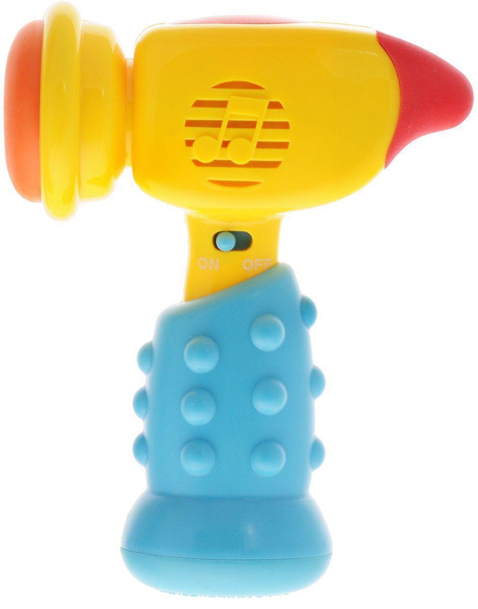 "Музыкальная игрушка на батарейках для ребенка Mommy Love ""Молоточек"", синий"